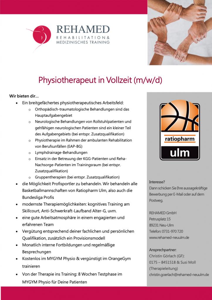 job Physiotherapeut